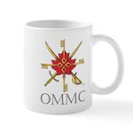 Badge, Black Lettering, Mug Mugs