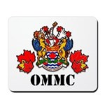 Coat Of Arms, Maple Leafs, Black Letters Mousepad