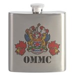 Coat Of Arms, Maple Leafs, Black Lettering Flask