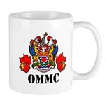 Coat Of Arms, Maple Leafs, Black Lettering Mugs
