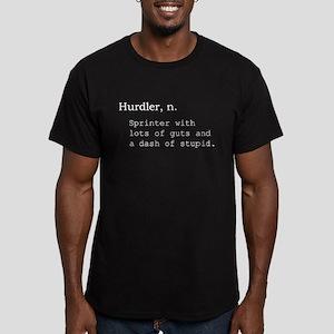 Hurdler Men's Fitted T-Shirt (dark)