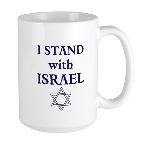 I Stand with Israel Large Mug