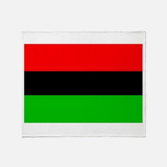 African-American Flag Total Throw Blanket
