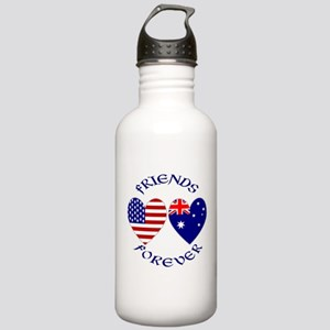 Australia USA Friends Stainless Water Bottle 1.0L