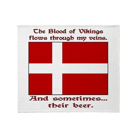 Danish Viking & Beer Throw Blanket