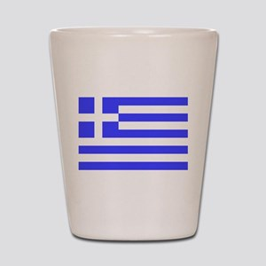 Greek Flag Shot Glass
