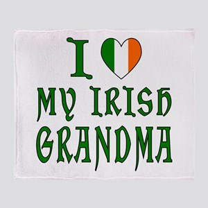 I Love My Irish Grandma Throw Blanket