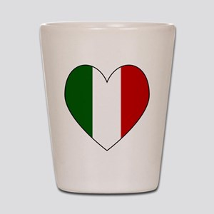 Italian Flag Heart Shot Glass