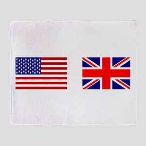 USA & Union Jack Throw Blanket
