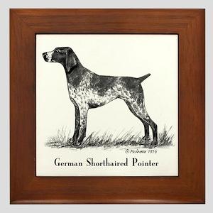 German Shorthaired Pointer Framed Tile