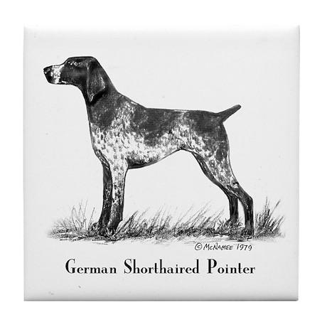 German Shorthaired Pointer Tile Coaster