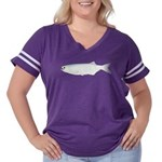 Goldeye Women's Plus Size Football T-Shirt
