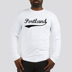 Vintage Portland Long Sleeve T-Shirt