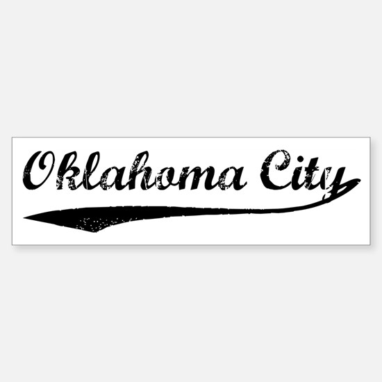 Vintage Oklahoma City Bumper Bumper Bumper Sticker