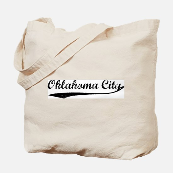 Vintage Oklahoma City Tote Bag