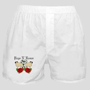 Pugs N Roses Boxer Shorts