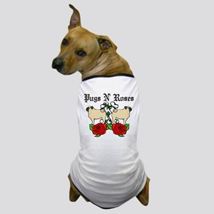 Pugs N Roses Dog T-Shirt