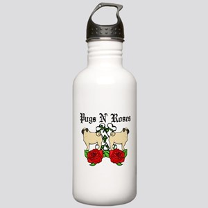 Pugs N Roses Stainless Water Bottle 1.0L