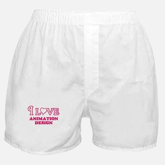 I Love Animation Design Boxer Shorts