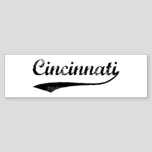 Vintage Cincinnati Bumper Sticker