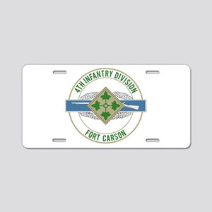 4th ID with CIB Aluminum License Plate