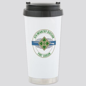 4th ID with CIB Stainless Steel Travel Mug