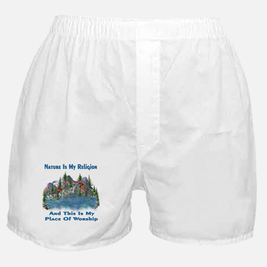 Nature Is My Religion Boxer Shorts