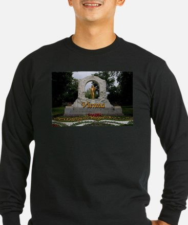 Vienna: Johann Strauss II monu Long Sleeve T-Shirt