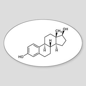 Estrogen Molecule Sticker (Oval)