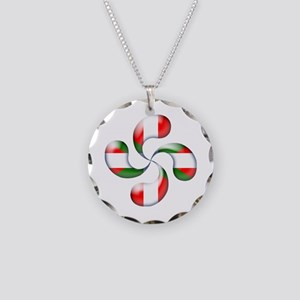 Basque Candy Necklace Circle Charm