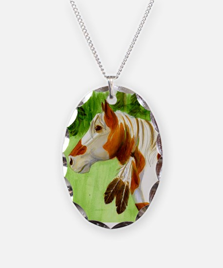 Apache Paint Horse Necklace