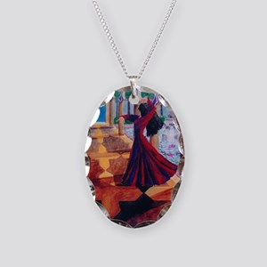 Spanish Dancer Necklace Oval Charm