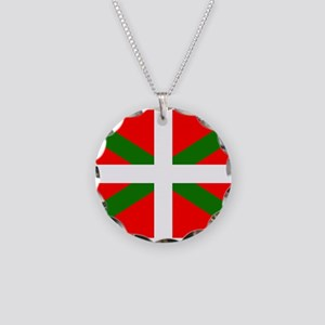 Basque Flag Necklace Circle Charm