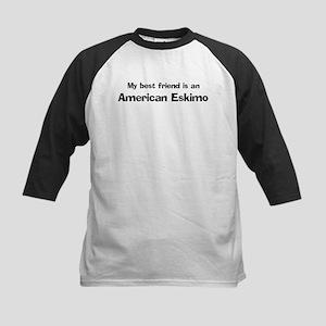 Best friend: American Eskimo Kids Baseball Jersey