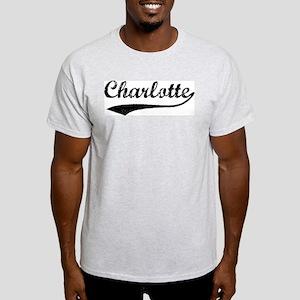 Vintage Charlotte Ash Grey T-Shirt