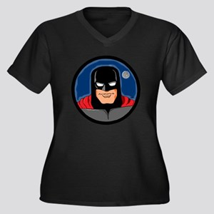 MOON STAR Women's Plus Size V-Neck Dark T-Shirt