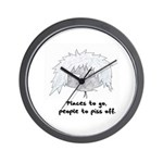 """""""Places To Go"""" Wall Clock"""