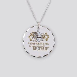 "Hamlet ""Be True"" Quote Necklace Circle Charm"