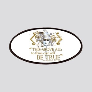 "Hamlet ""Be True"" Quote Patches"