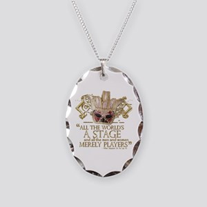 As You Like It Quote Necklace Oval Charm