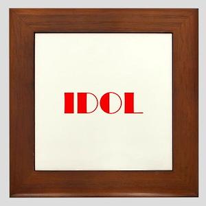 Idol Framed Tile