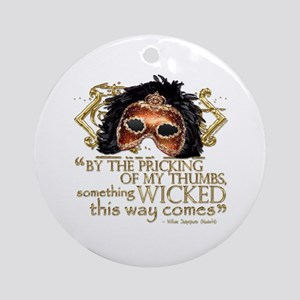 Macbeth Quote Ornament (Round)