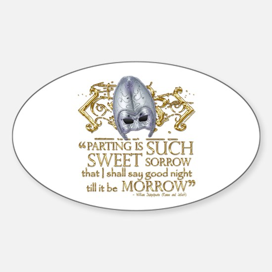 Romeo & Juliet Sticker (Oval)