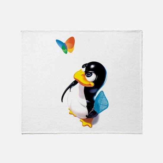 Cute Ubuntu Throw Blanket