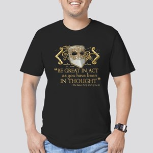 Shakespeare Great In Thought Quote Men's Fitted T-