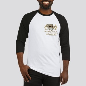 Shakespeare Great In Thought Quote Baseball Jersey