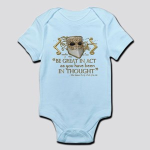 Shakespeare Great In Thought Quote Infant Bodysuit