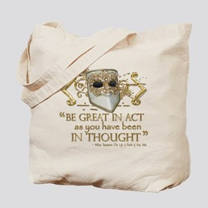 Shakespeare Great In Thought Quote Tote Bag
