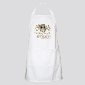 Shakespeare Great In Thought Quote Apron
