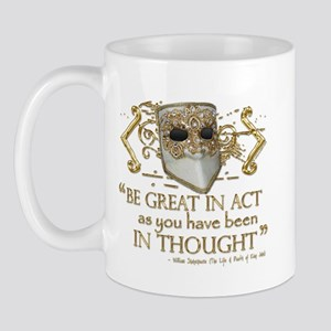Shakespeare Great In Thought Quote Mug
